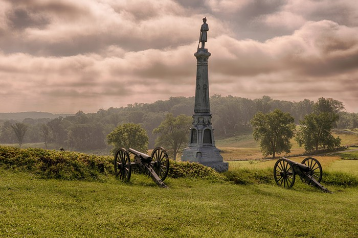 Carroll's Brigade monument at East Cemetery Hill in Gettysburg