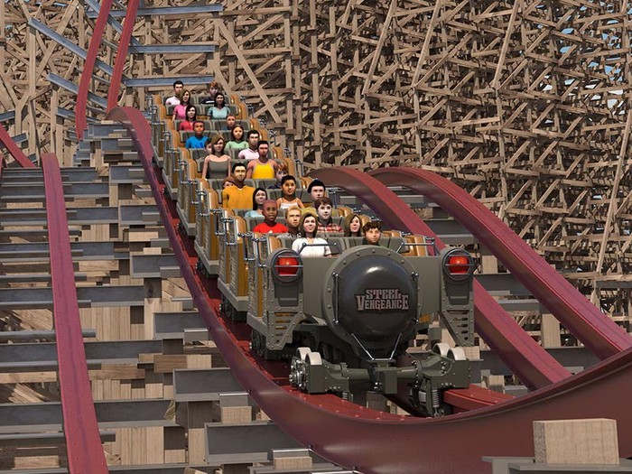 Concept art for Steel Vengeance opening at Cedar Point in May.