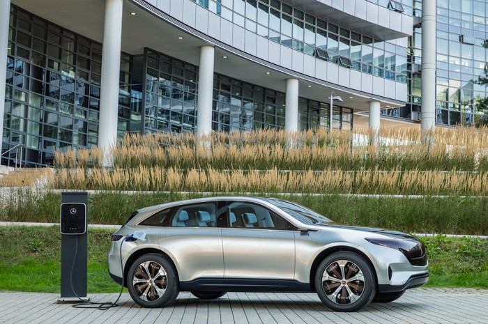The Mercedes-Benz Generation EQ Concept, a show-car version of an electric SUV that will enter production in 2020.