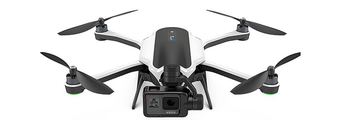 GoPro's Karma drone against a white background.
