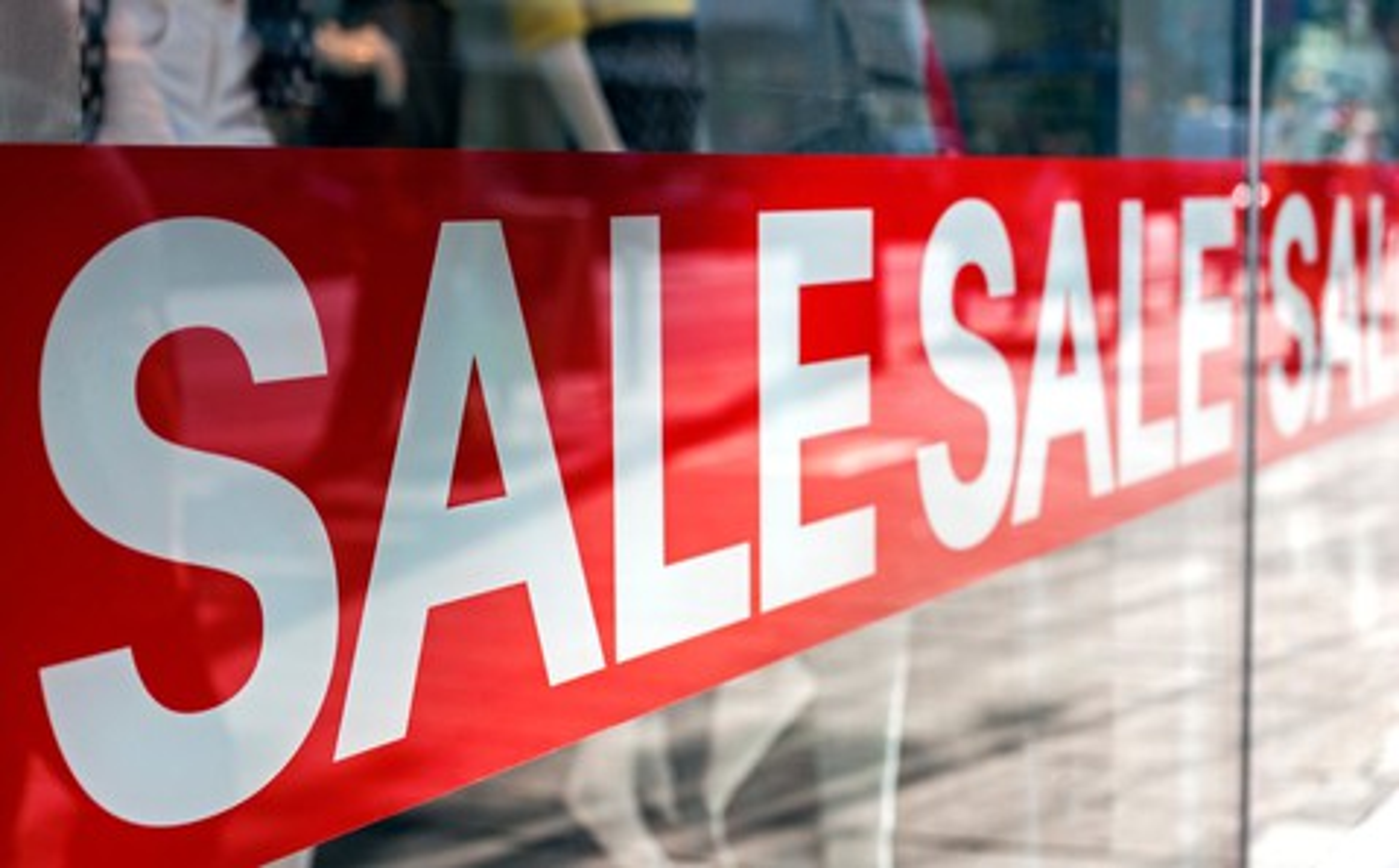 Getty Sale Sign Shop Window