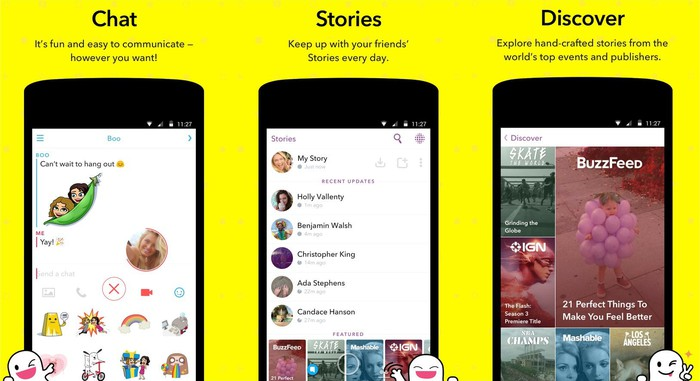 Snap's mobile app.