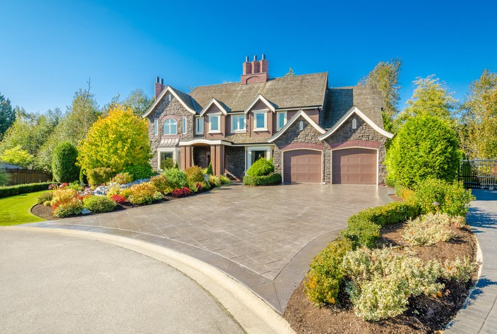 Large house with large driveway