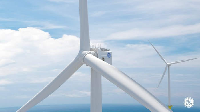 Rendering of GE's 12 MW wind turbine.