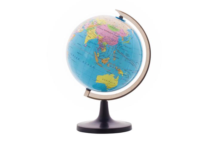 A world globe on a stand