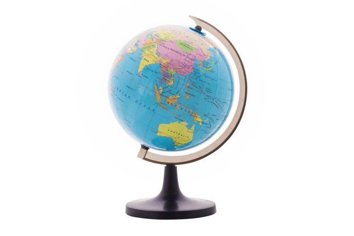 A world globe on a stand