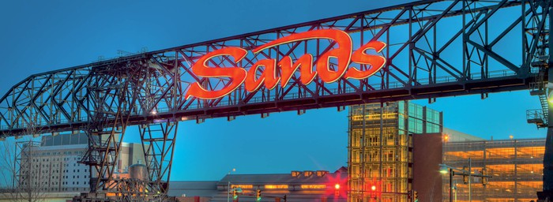 Sands Bethlehem resort bridge, the icon of the site.
