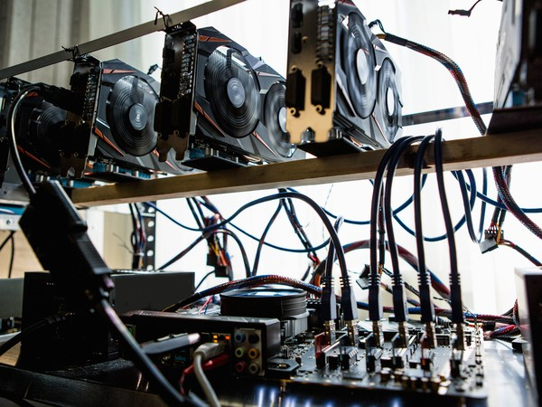 Computer Graphic Cards Bitcoin Ethereum Miner Mining Cryptocurrency Getty