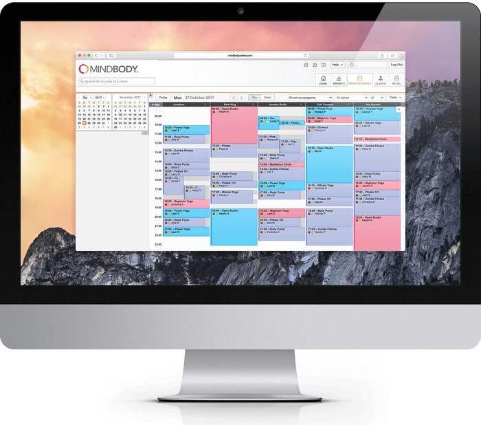 Mindboy schedule management on a desktop computer.