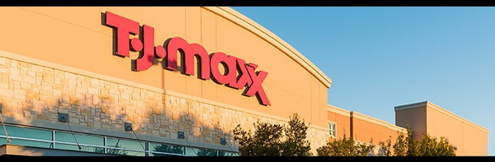 The exterior of a T.J. Maxx store