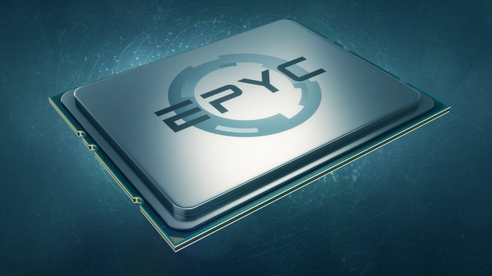 A rendering of an AMD EPYC chip.