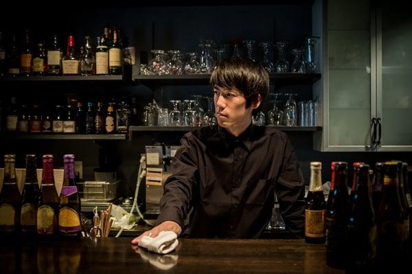 Bartender in Japanese Bar