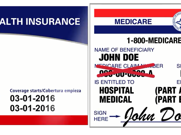 Medicare new vs old card