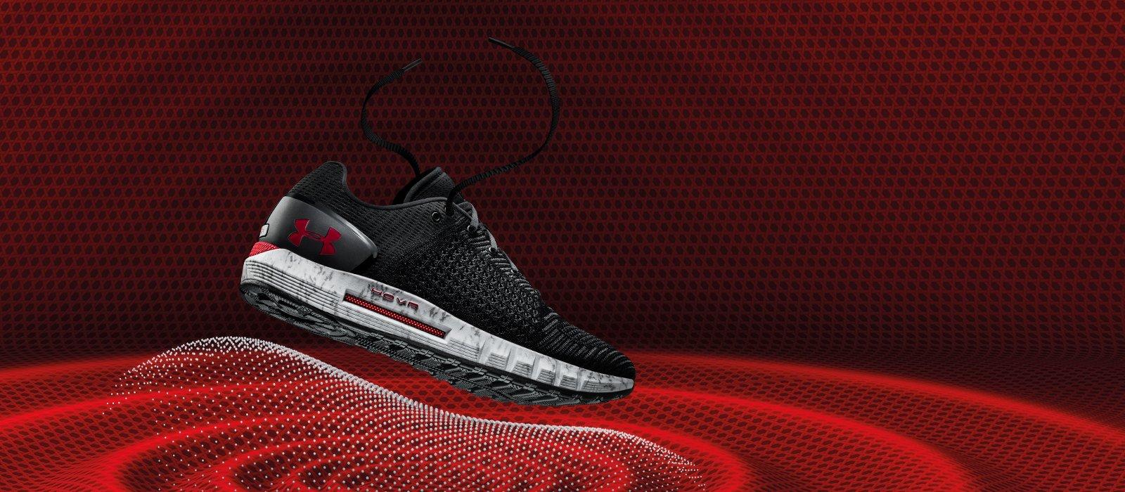 UA's foam-soled HOVR shoes.