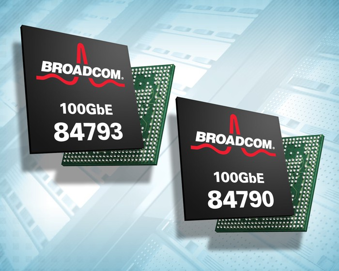 Renderings of two Broadcom chips.