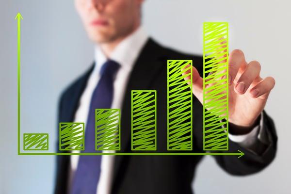 green chart growth