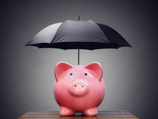 insurance piggy bank policy premium coverage risk life car home umbrella protection