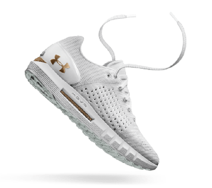 A white Under Armour Hovr shoe