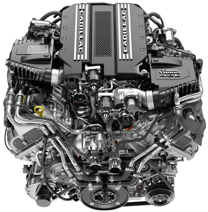 An image of the new V8, which is quite compact given its power output.