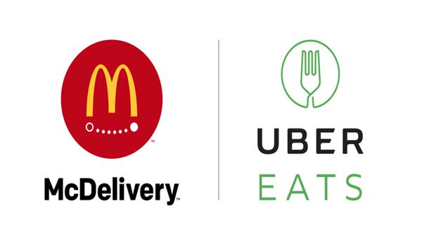 McDelivery / UberEATS dual logo.