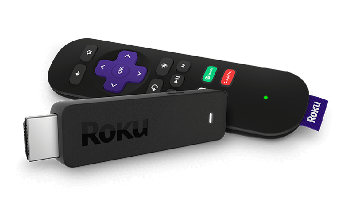 Roku stick and remote