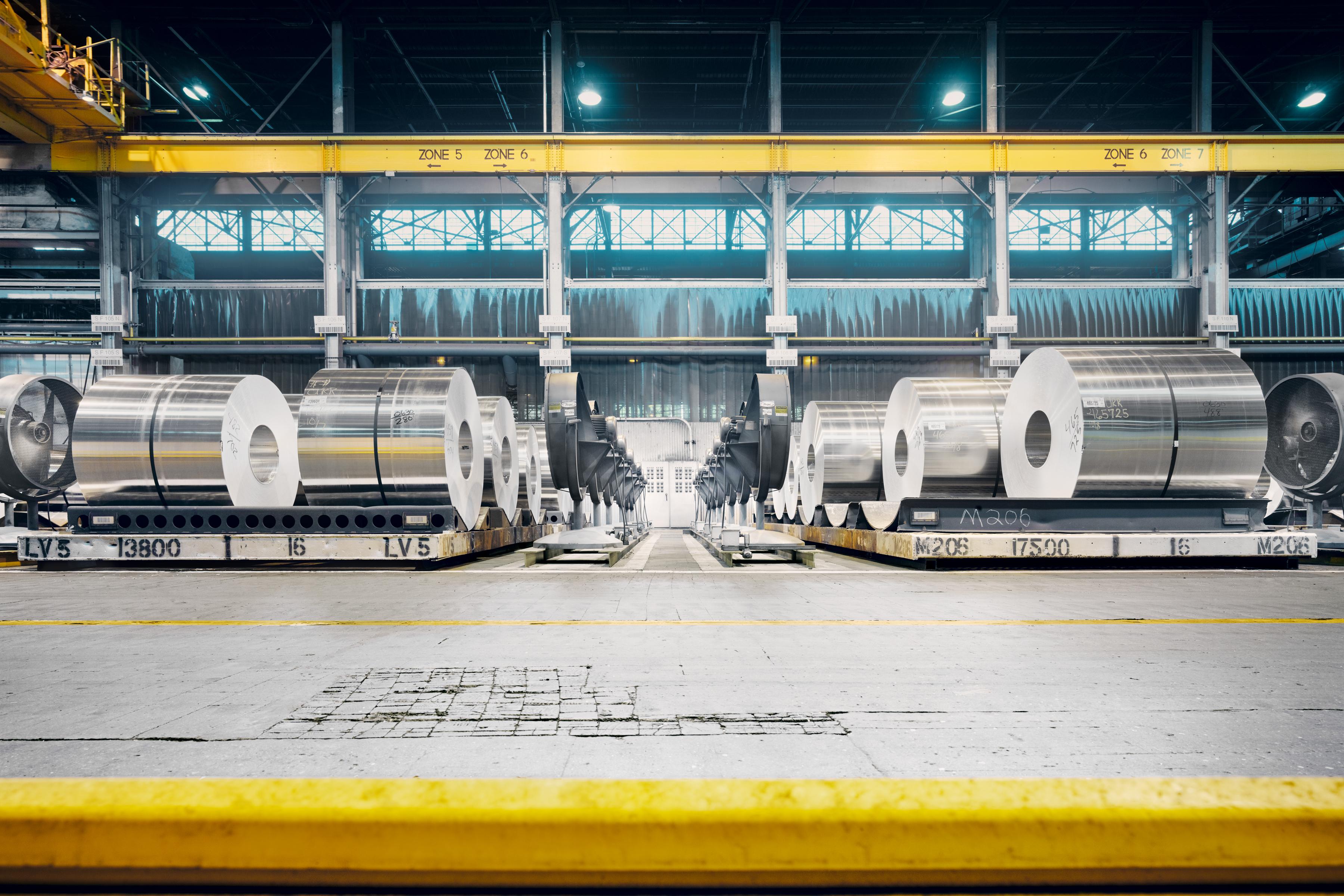 Aluminum alloy coils.