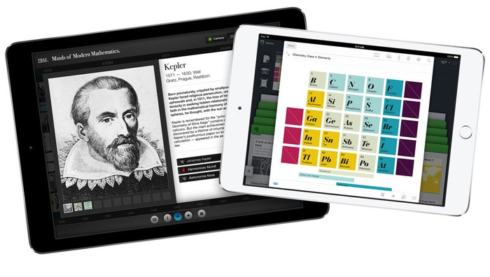 iPads with educational content