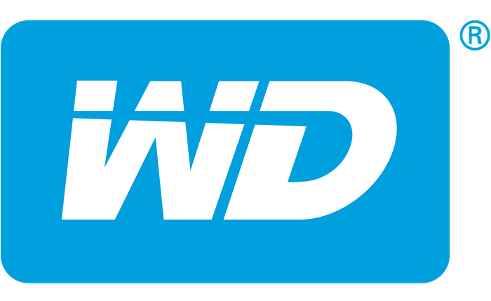 Logo with white letters WD on blue background.
