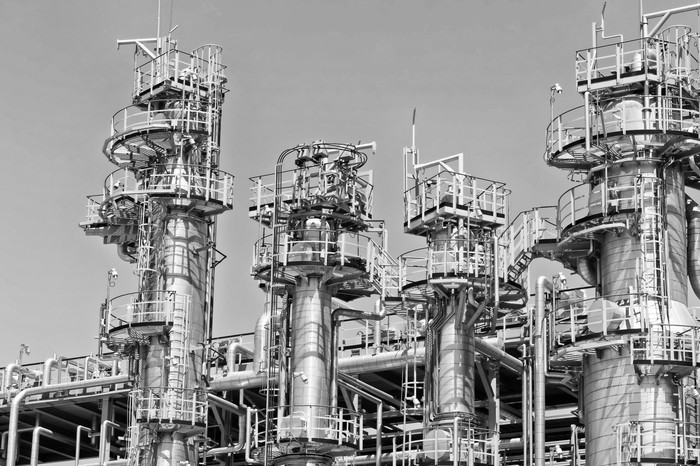 A oil refining plant