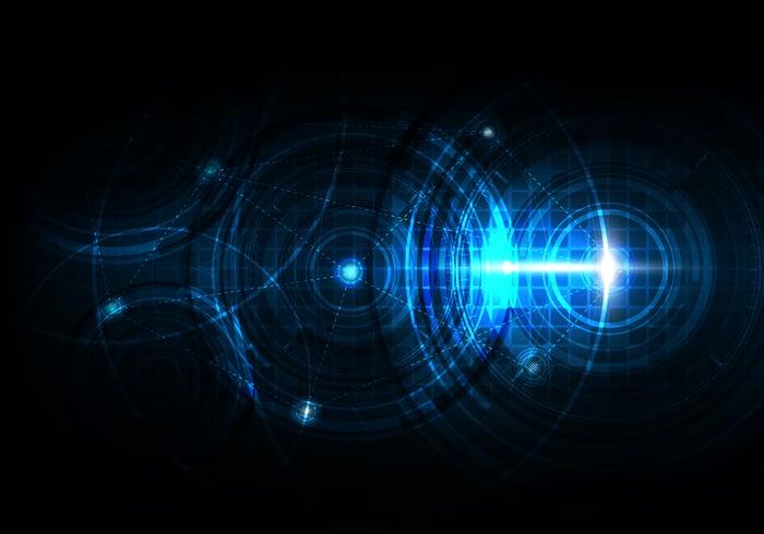 Image of blue radars.