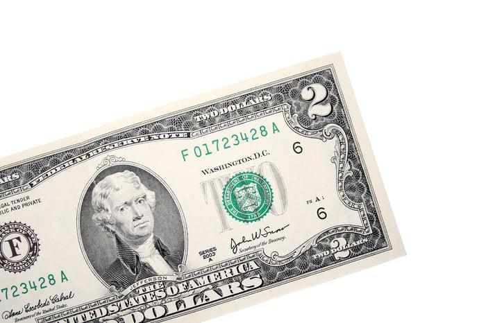 A single $2 bill