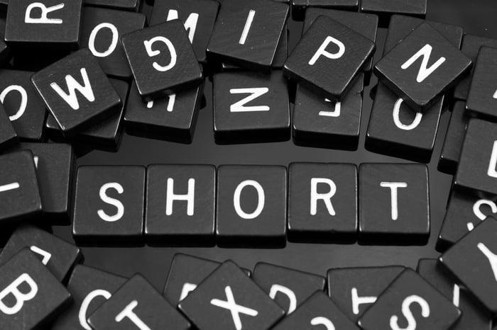"Blocks spelling out ""short."""