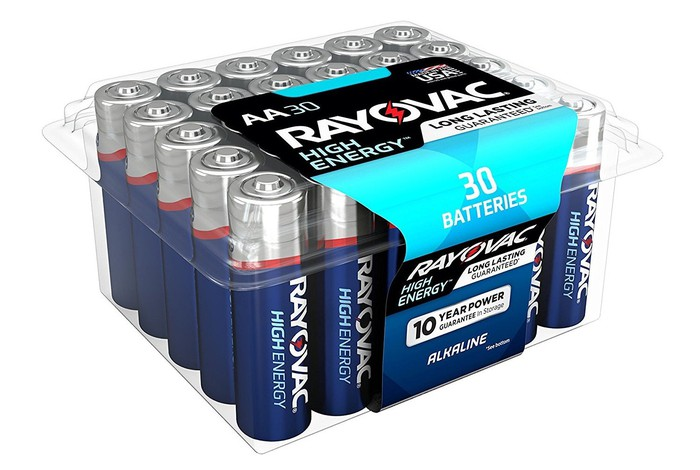 Pack of 30 Rayovac batteries