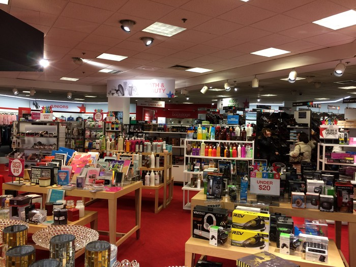 The interior of a Macy's Backstage store filled with merchandise