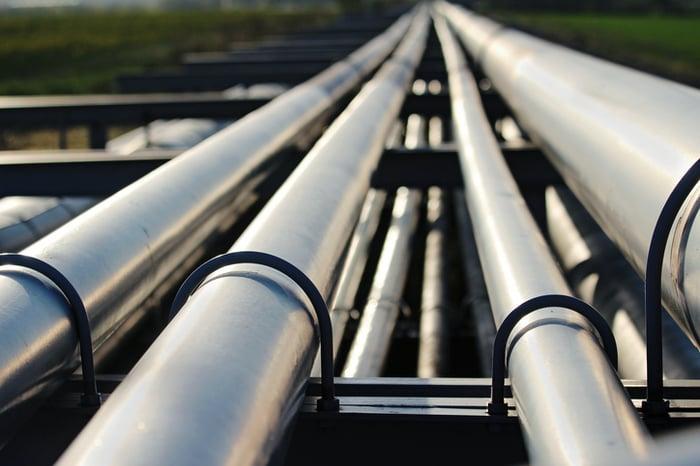 A steel pipeline.