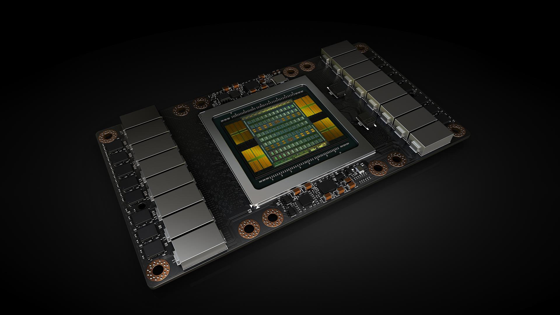 An NVIDIA Volta graphics processor.