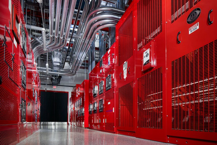The inside of a Switch data center