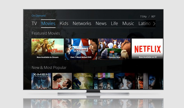 Netflix on Comcast's X1 platform