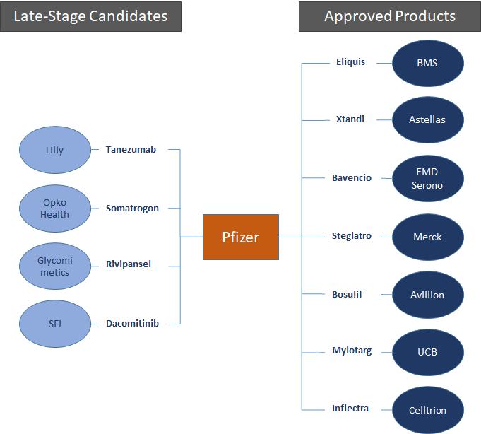 Pfizer partner network diagram