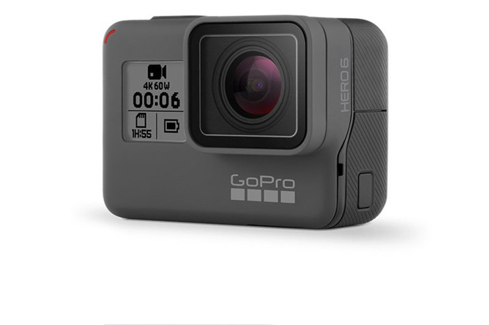 Hero6 Black camera against a white background.