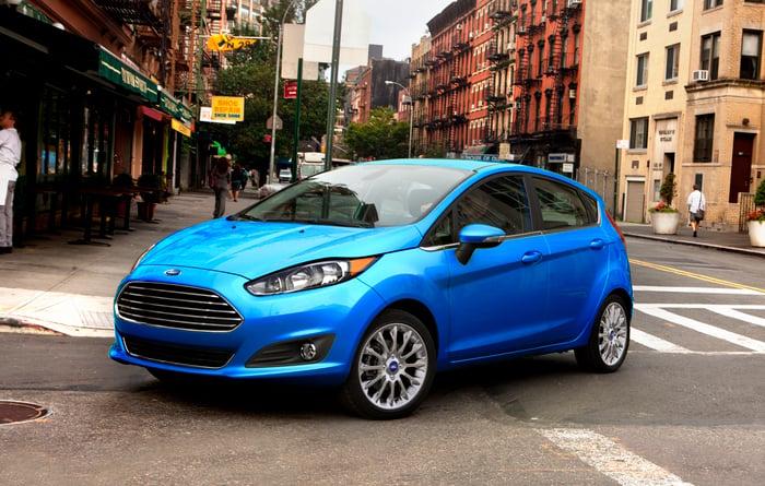 A Blue 2018 Ford Fiesta Hatchback