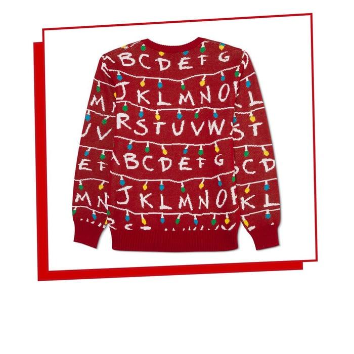 Stranger Things Christmas sweater.