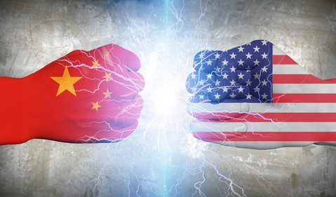 China vs. US boxing gloves