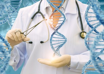 gene editing woman holding double helix and scissors GettyImages-693373540