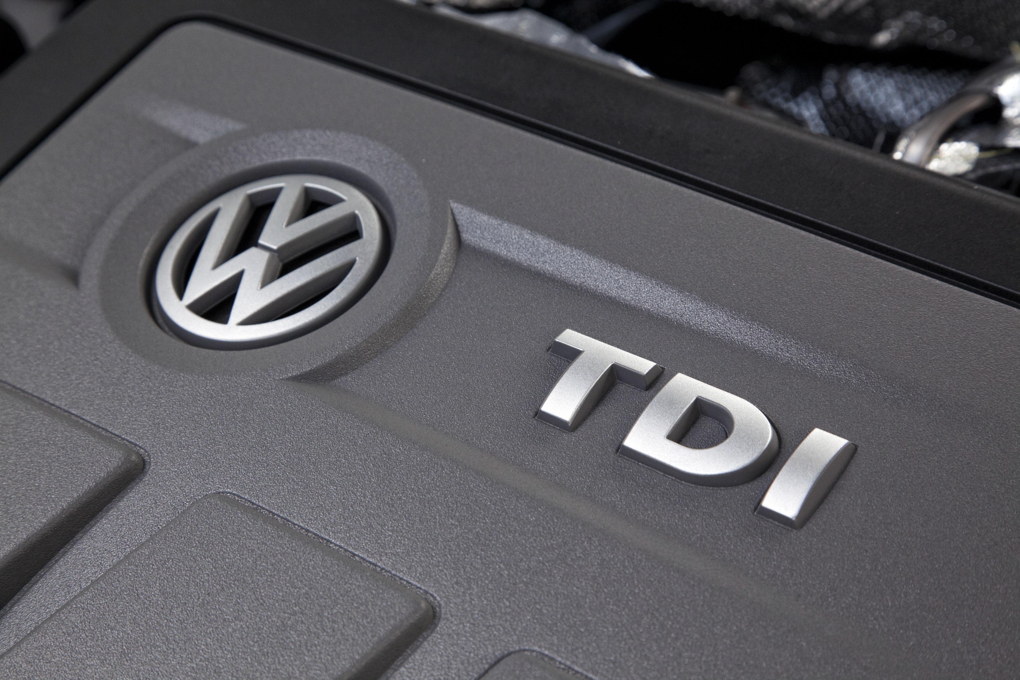 """A Volkswagen 2.0 liter turbocharged four-cylinder """"TDI"""" diesel engine."""