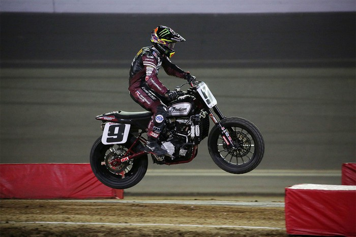 Jared Mees on an Indian Motorcycle FTR750