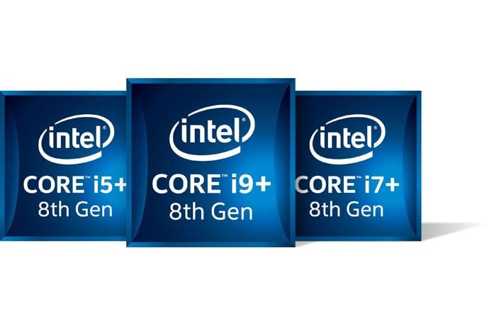 Intel processor badges.