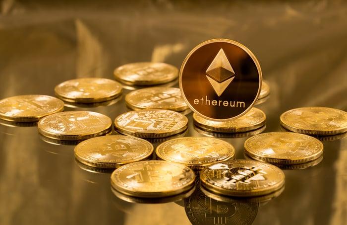 An Ethereum coin.