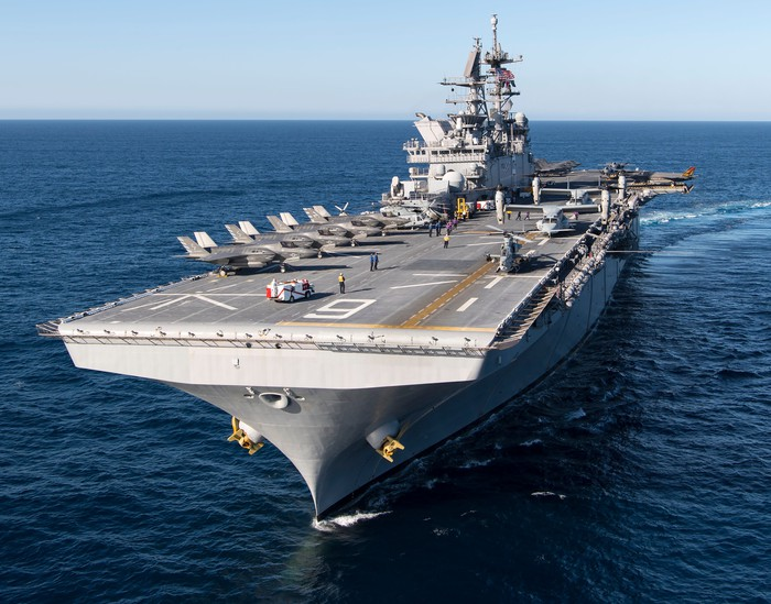 F-35s on board the USS America