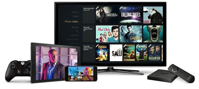 Amazon Prime Video on a tablet, smartphone, and Fire TV,